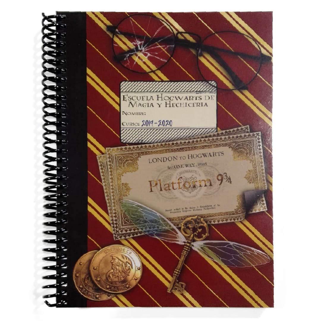 Agenda escolar 19/20 semana vista - Diseño inspidado en Harry Potter Hogwarts