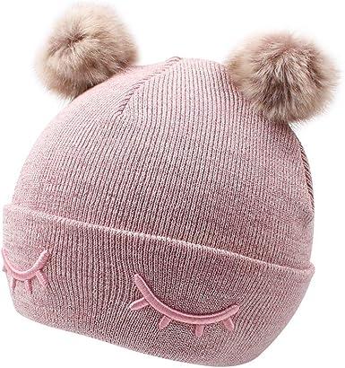 Winter Warm Newborn Baby Boy Girl Bobble Hat Crochet Knit Hairball Beanie Cap KW