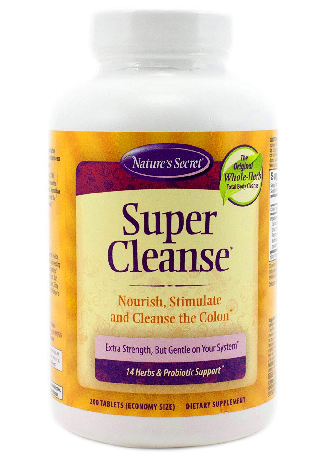 Nature's Secret Super Cleanse Herbal and Probiotic Support, 200 Tablets (Pack of 2) by Nature's Secret