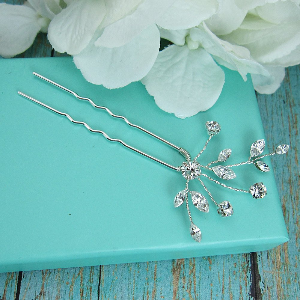 Layla Swarovski Crystal Wedding Hair Pin