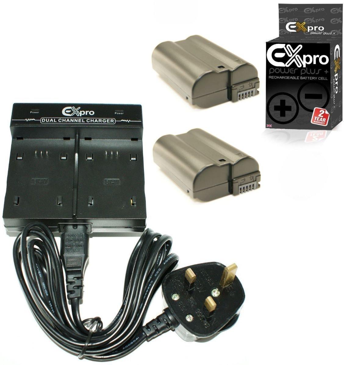 D810 D600 D750 ProPower Elite High Capacity 2200mAh Lithium Li-on Digital Camera Battery for 1 V1 D7100 D7200 ENEL15 Ex-Pro Nikon EN-EL15 D610 D800 D7000