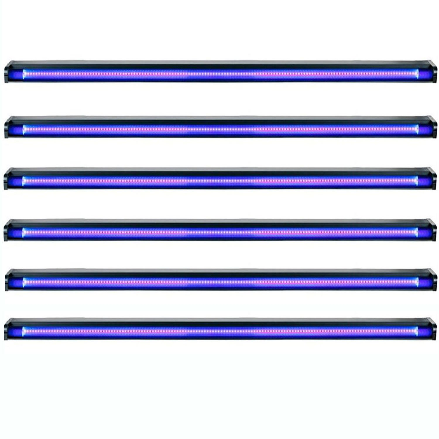 American DJ Startec 48'' 20W Stage Party UV LED Black Light Strip Bar (6 Pack)