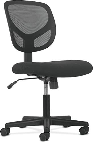 HON BSXVST101 Sadie Swivel Mid Back Mesh Task Without Arms-Ergonomic Computer/Office Chair HVST101