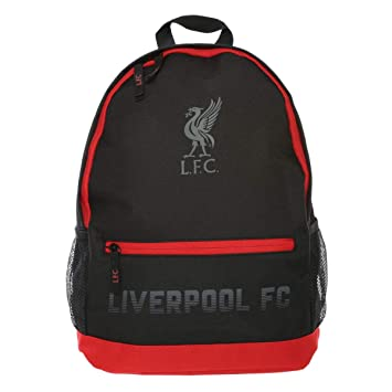 Liverpool FC LFC Kids Black Red Liverbird Zip Backpack School Bag NWT  Official 97b80f56a32c7