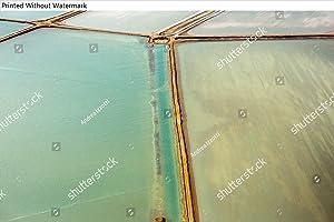 KwikMedia Poster of Saline Aerial View in Shark Bay Monkey Mia Australia