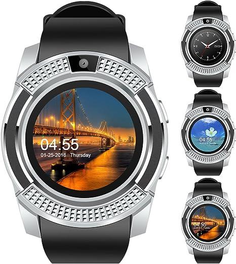 Amazon.com: V8 - Reloj inteligente deportivo con Bluetooth ...