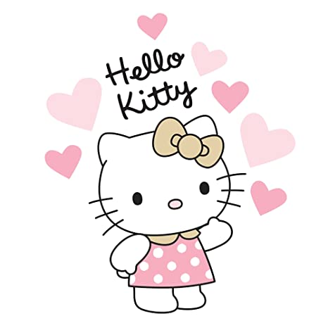 Pink//Gold Bedtime Originals Hello Kitty Luv Hearts Wall Appliques