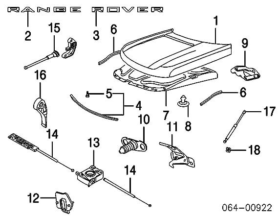 Amazon Com Land Rover Range Rover Sport Hood Upper Gas Strut Set Of