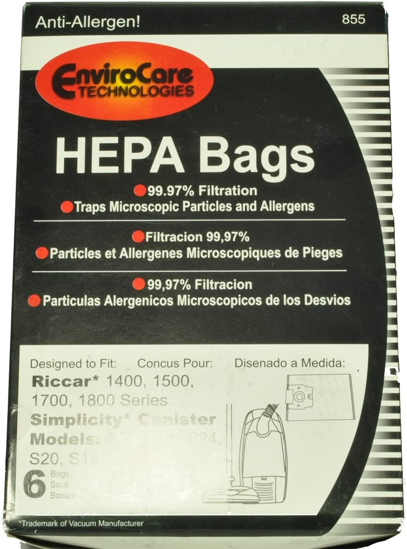 Riccar Simplicity Canister Vacuum Cleaner Bags