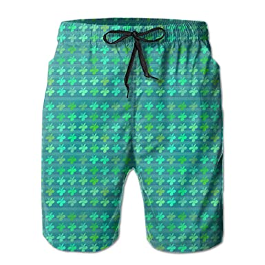 6ab4d5df64b Image Unavailable. Image not available for. Color: BroClem Quick Dry Surfing  Board Shorts Hawaiian Shorts Beach Shorts for Men White