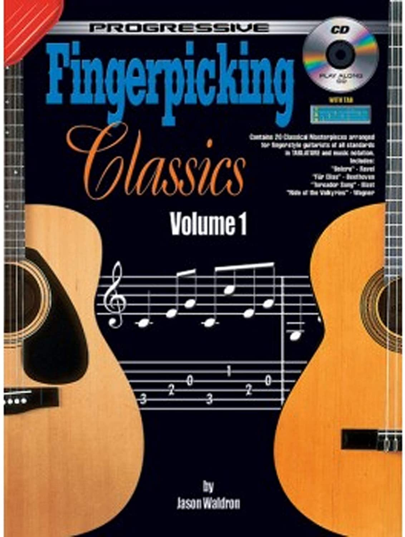 Aprende a tocar guitarra - Fingerpicking Classics Vol 1 - Guitarra Clásica - Tutor de Música Enséñate a ti mismo Lecciones - Notas TAB Principiante a libro avanzado y CD - G7