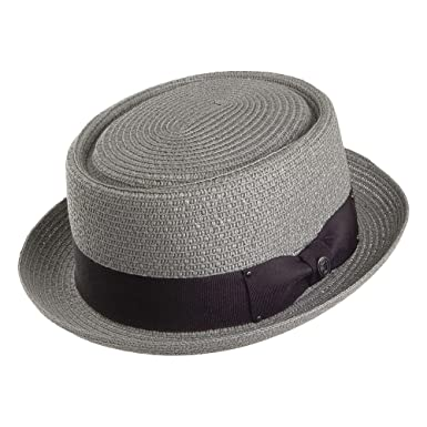 ae0667389fe7a4 Jaxon & James Toyo Braided Pork Pie Hat - Grey: Amazon.co.uk: Clothing