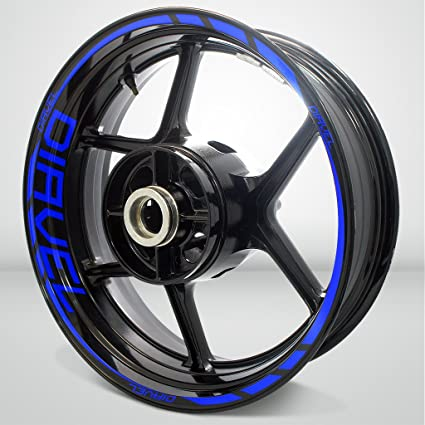 PRO-KODASKIN Wheel Decals Stickers Rim Stripes for DUCATI DIAVEL 899 959 1199 1299 panigale