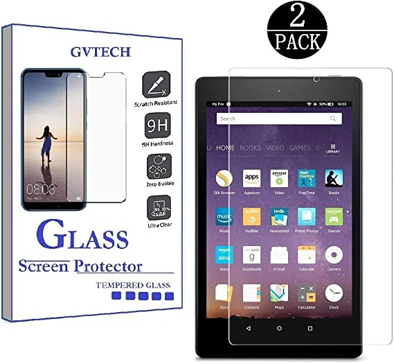 with alexa Tablet Tempered Glass Screen Protector For Amazon Fire HD 8 2018