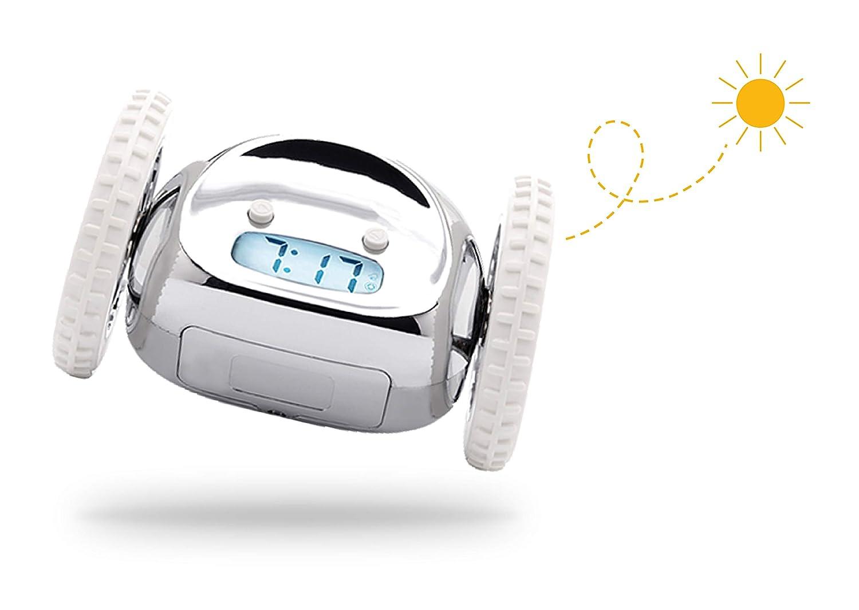 Clocky, el Despertador Original que Rueda| Niños y Adultos (el más ruidoso para Durmiente Pesado, Habitación) Guay, Divertido Clockie Salta, Persigue, ...