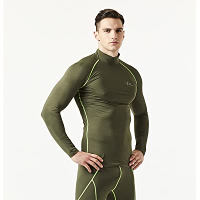 762MPH Men's Wintergear Thermal Compression Baselayer Long Sleeve Mock Neck Shirt