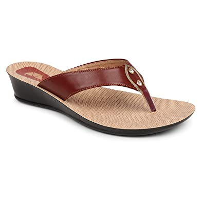 cbe1ee3a3c1 Zvise Women Office Party Wear Slippers (9, Brown): Buy Online at Low ...