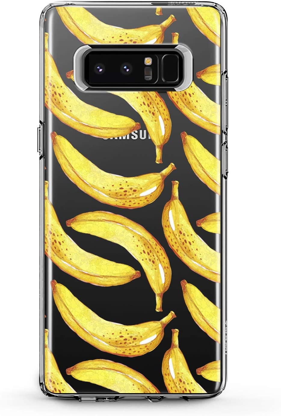 Anreda TPU Case Compatible with Samsung Galaxy J8 J7 Prime J6 Plus J5 J4 Core J2 Juicy Soft Clear Cute Design Slim fit Flexible Unique Gift Silicone Banana Girl Tropical Sweet Cover Smooth Women Print