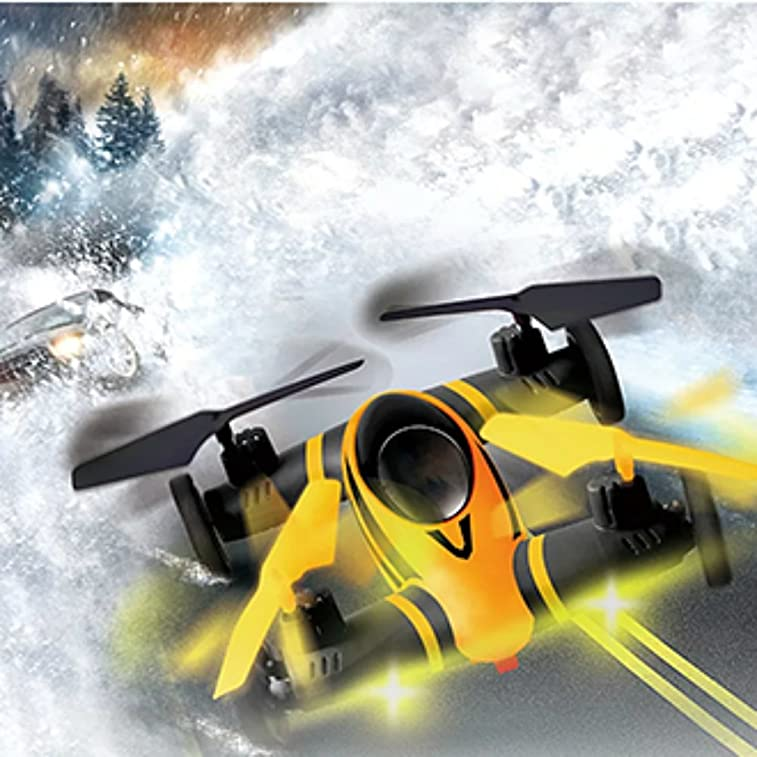 Surpass Professional 2.4G 6-Axis Gyro Remote Control Series 4 Channel RC Stunt Air-Ground Flying car Headless Quadcopter Drone UFO Aircraft Toys Unmanned Aerial Vehicle(Without Camera)
