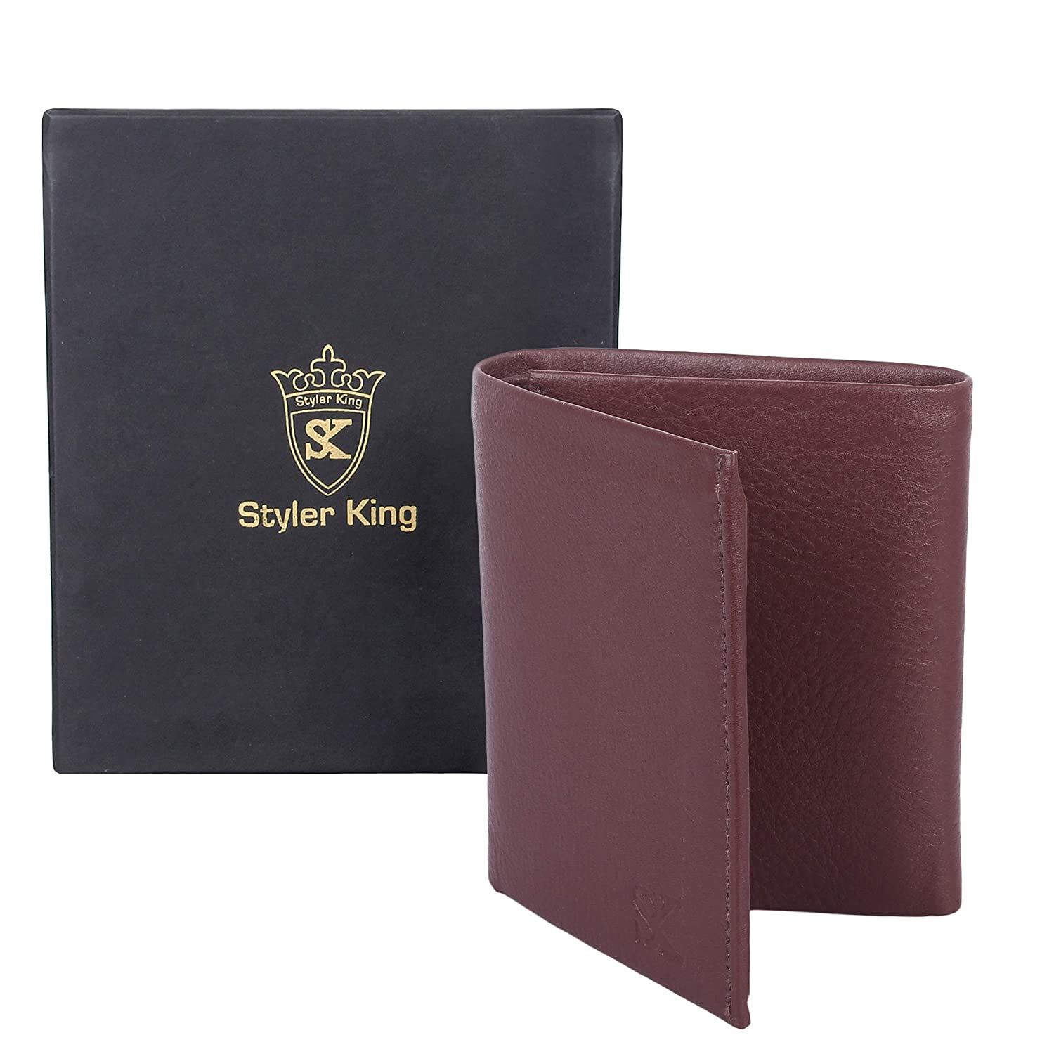 STYLER KING Men Wallets with Latest Designer Genuine Leather Wallet With Large Zip Coin Pocket-Gift Box