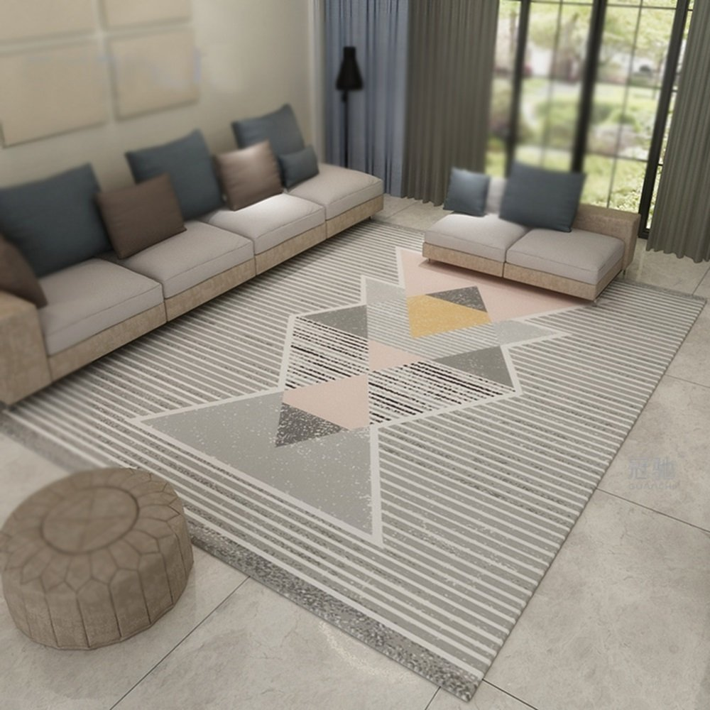 Home decoration carpet / living room modern geometric sofa coffee mats / bedroom bedside blanket / study computer swivel cushions / home fashion carpet ( Size : 180280cm )