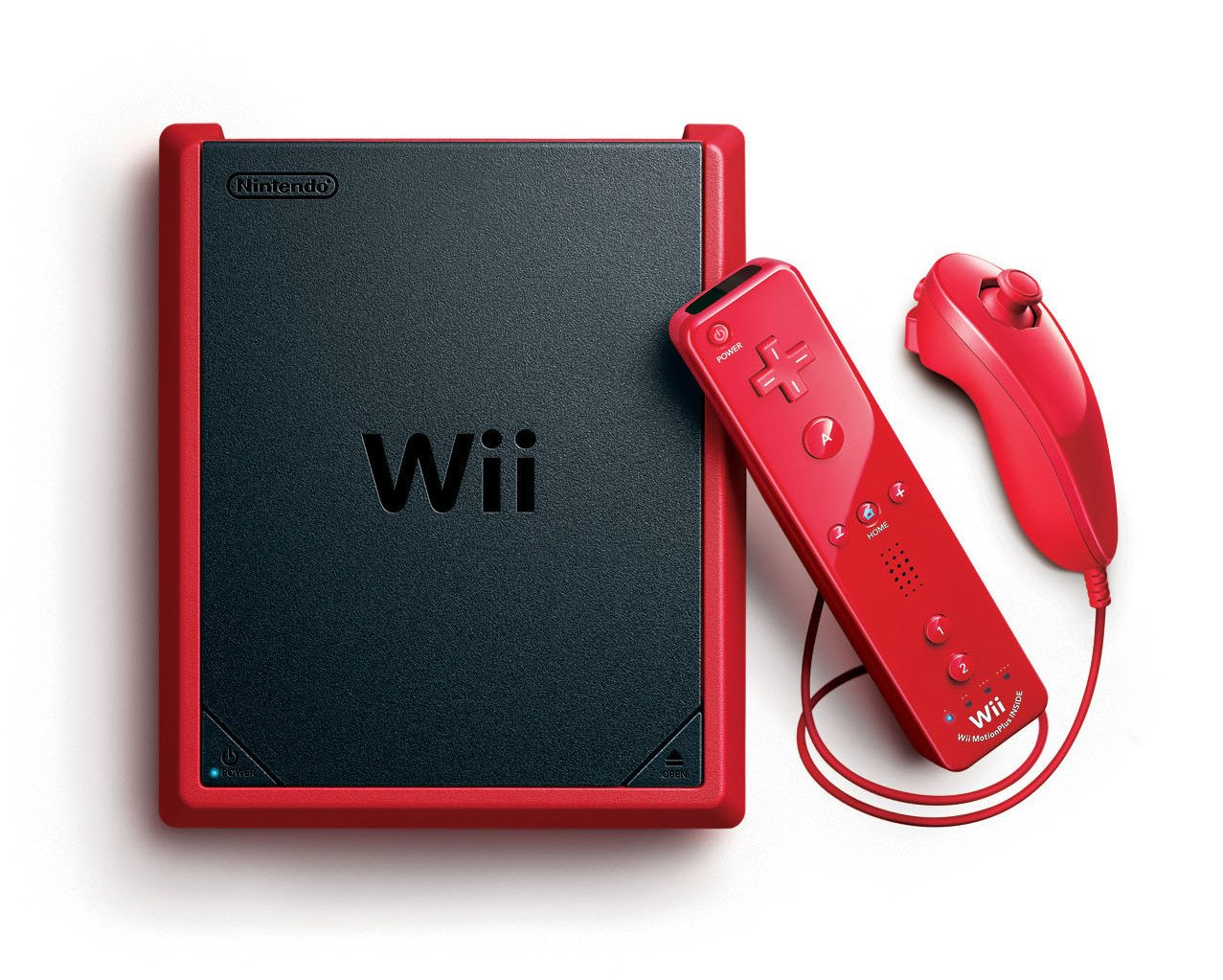 Red Wii Mini Console MotionPlus Bundle (Wii) by Nintendo