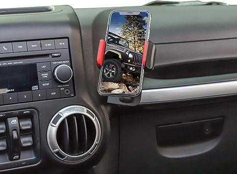 JeCar for Jeep Phone Holder Dash Phone Mount for 2011-2018 Jeep Wrangler JK /& Unlimited 2-Door//4-Door