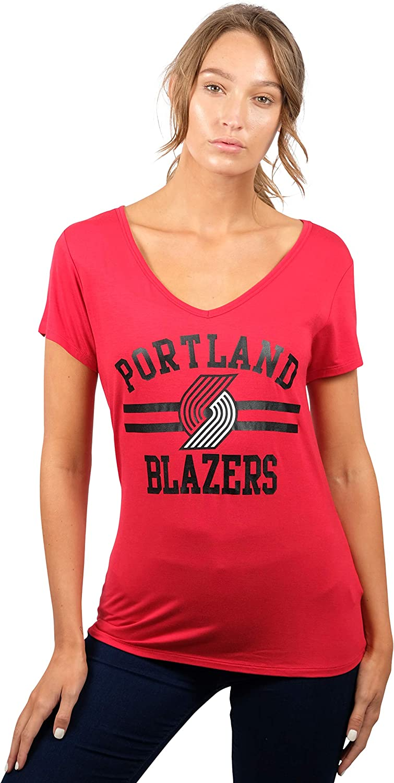 Ultra Game NBA Womens Relaxed Short Sleeve Tee Shirt