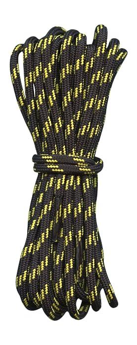 Amazon Com Hiking Boot Laces Black With Yellow Flecks 3 16