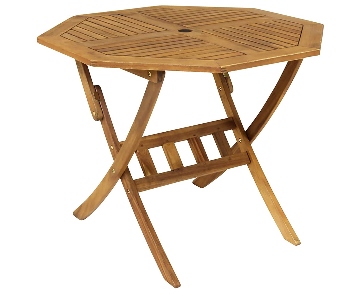Bentley Garden - Table de Jardin octogonale Pliable - Bois Dur ...