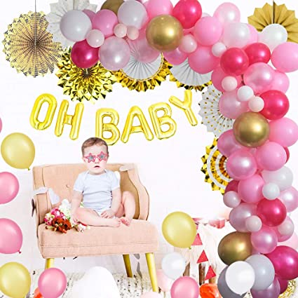 Es una niña rosa Variedad de Globos de Látex Nuevo Bebé Ducha Helio O Aire Llenar