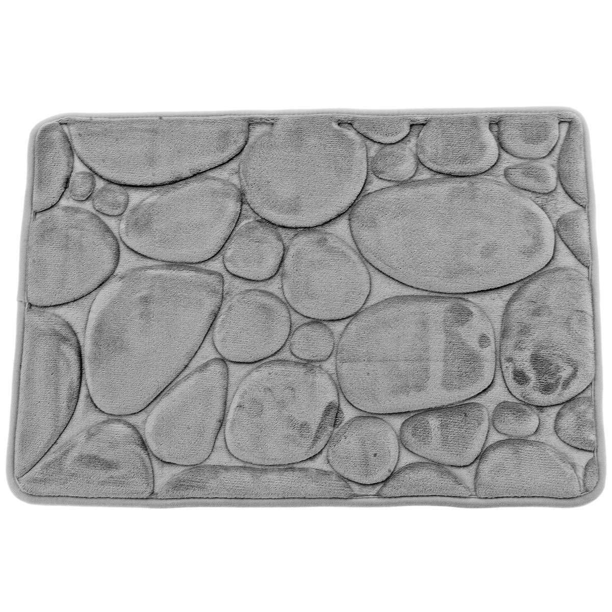 43x61 Alfombra Micro Sensoft Memoire de forma piedras Aqua Sea