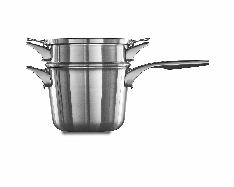 Calphalon Premier Space Saving Stainless Steel 3.5qt Pour /& Strain Sauce Pan