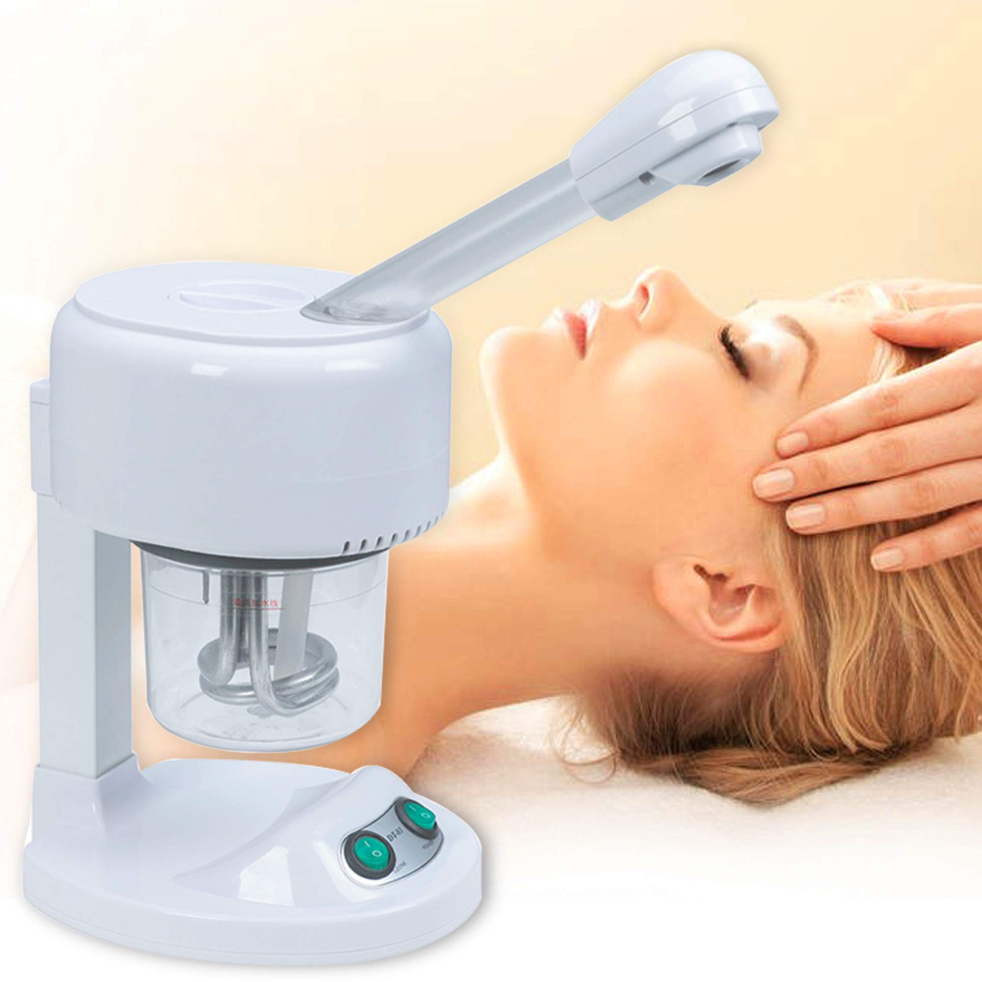 Facial Steamer, Hot Mist, Ozone Humidifier, Can Use at Home and Beauty Salon, Extract Blackheads, Rejuvenate and Hydrate Your Face Skin for Youthful Complexion, Table