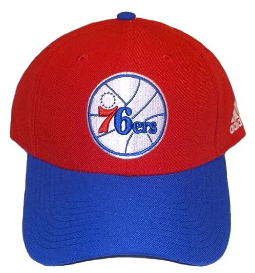 63f07db56cfe9 Amazon.com  Philadelphia 76ers Adjustable Structured Adidas Hat ...