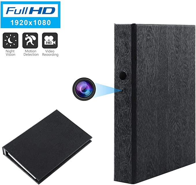 up to 2 Years Standby Power 10000mAH Battery Brickhouse Security BKC-1080DVR HD 1080P Hardcover Book Hidden Camera with Night Vision//Motion Activated