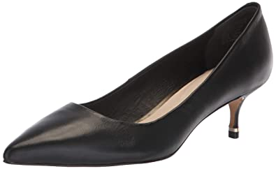 94b8760516a Kenneth Cole New York Riley 50 Leather Kitten Heel Black