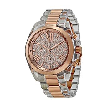 bc039b99e573 Amazon.com  Michael Kors Women s MK5905 - Bradshaw White Rose Gold ...