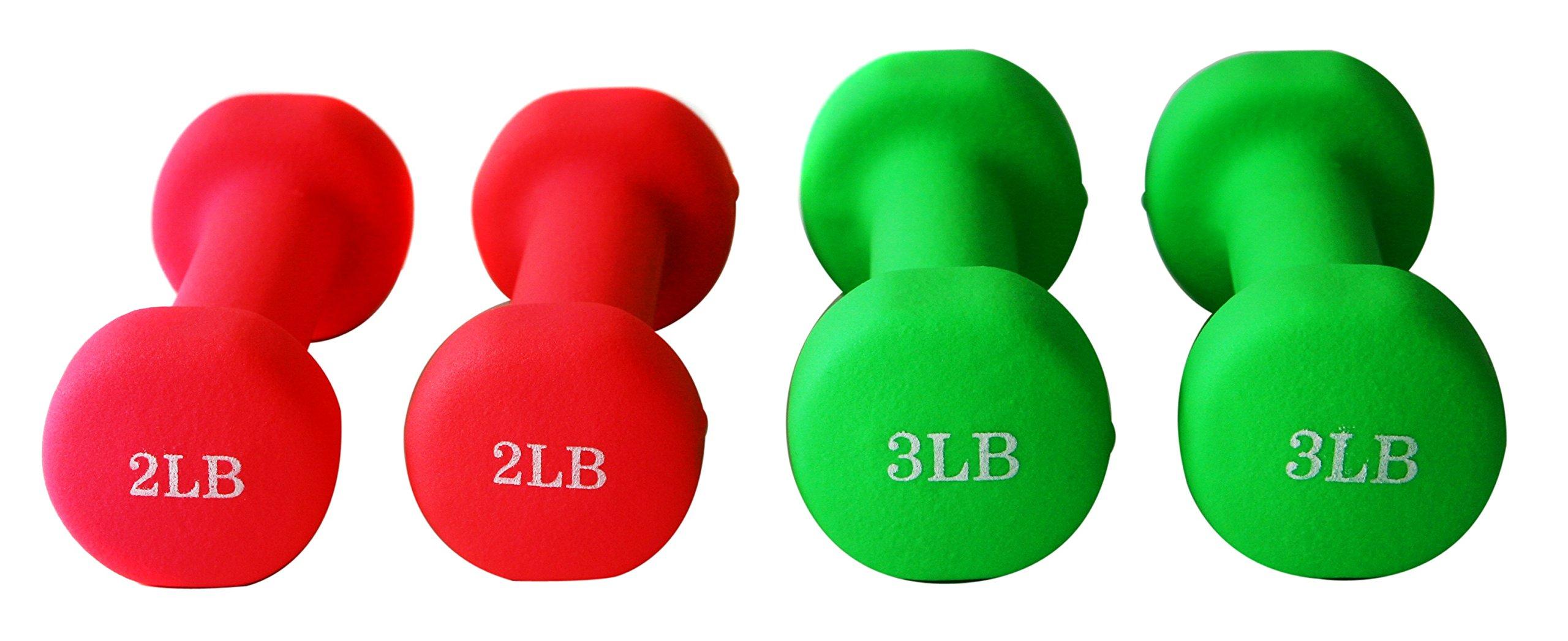 Unipack Neoprene Dumbbells (2+3lbs 2 Pairs)