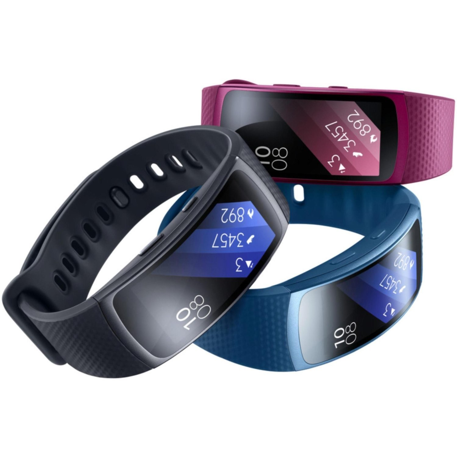 Samsung Gear Fit2 SM-R360 Sports Band Smartwatch/iPhone Compatible [Asia Version] (Pink - Small)