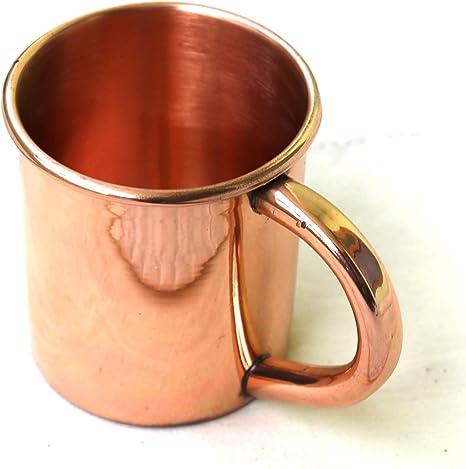 Amazon Com Street Craft 100 Authentic Copper Moscow Mule Smooth Shots Mug Capacity 4 Oz Shots Mug Solid Copper Moscow Mule Straight Plain And Copper Handle Shot Mugs Kitchen Dining