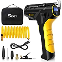 SKEY Air Compressor Tire Inflator - Handheld Electric 150PSI Portable Air Compressor, Cordless Car Tire Pump with…