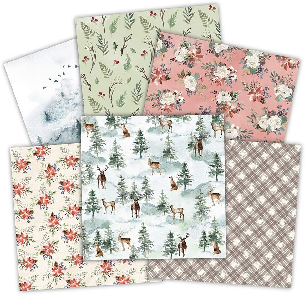 CHZIMADE 5.9x5.9 12pcs Designer Paper Pad for Scrapbooking DIY Happy Planner Card Making Journal Project Decorative Gift Wrapping Book Covers Multiple Colors A
