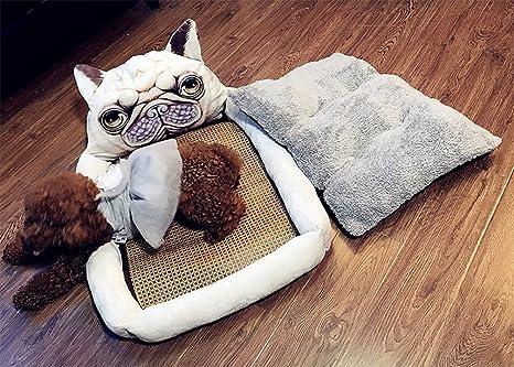 BMDHA Cama Para Perros Dibujos Animados Cama De Perro Colchón Cat Perros Pequeños Perro Mediano Desmontable