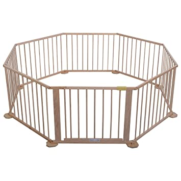 Amazoncom Wooden Playpen 8 Panel Baby Room Divider Octagon Baby