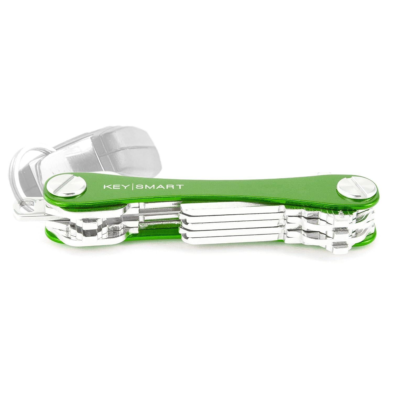 KeySmart - Compact Key Holder and Keychain Organizer (up to 8 Keys, Red) KS309