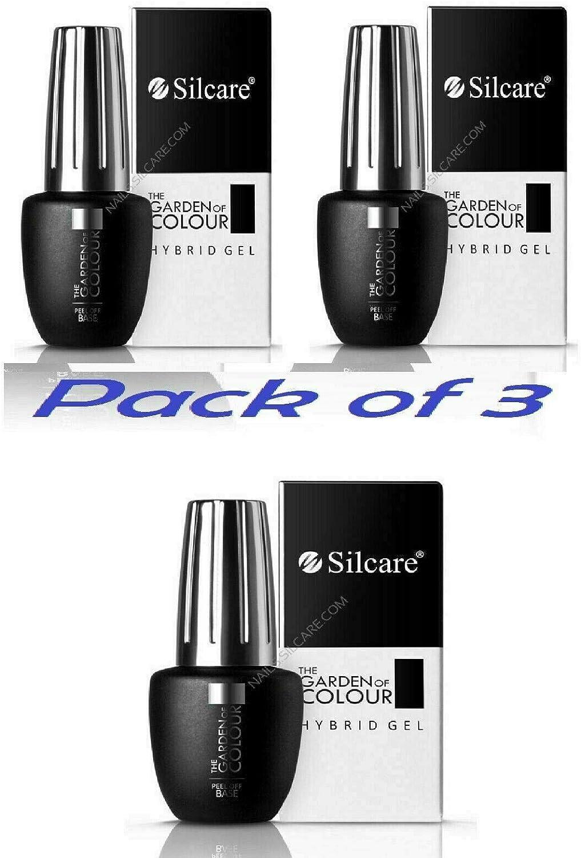 Silcare Gel Top - Esmalte de uñas de gel para manicura híbrida (9 g, 3 unidades): Amazon.es: Belleza