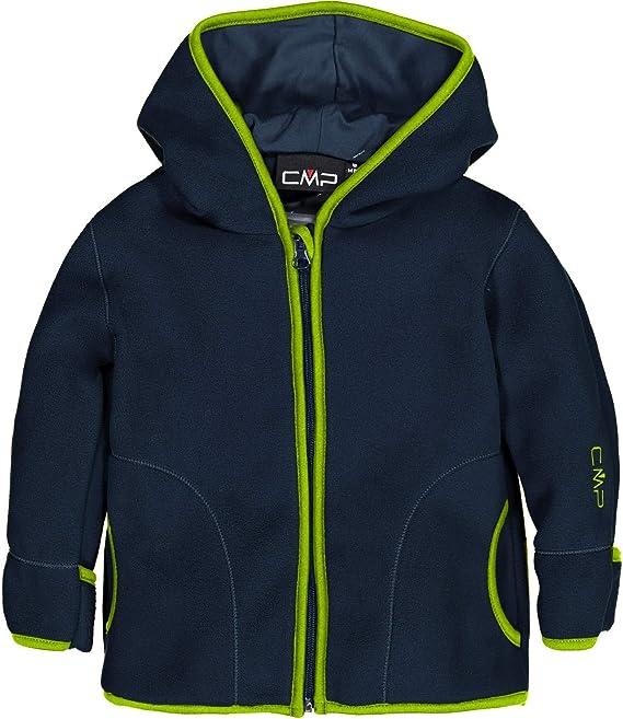 CMP Fleecejacke Fleece GIRL JACKET FIX HOOD blau atmungsaktiv elastisch wärmend