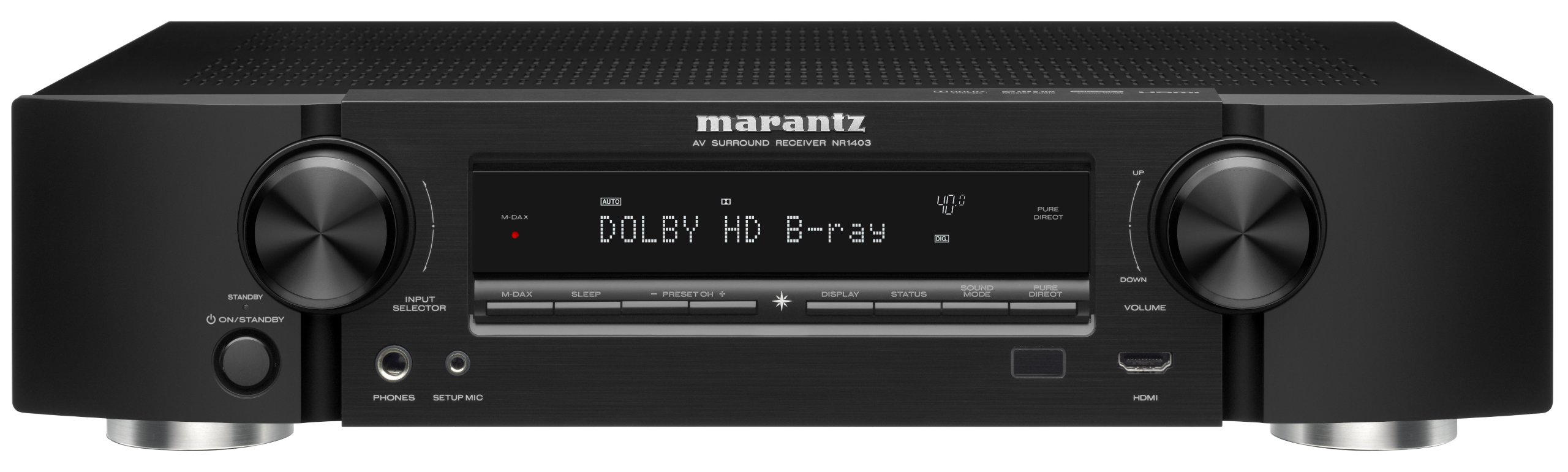 Marantz NR1403 Slim Line 5.1-Channel Home Theater AV Receiver (Discontinued by Manufacturer) by Marantz