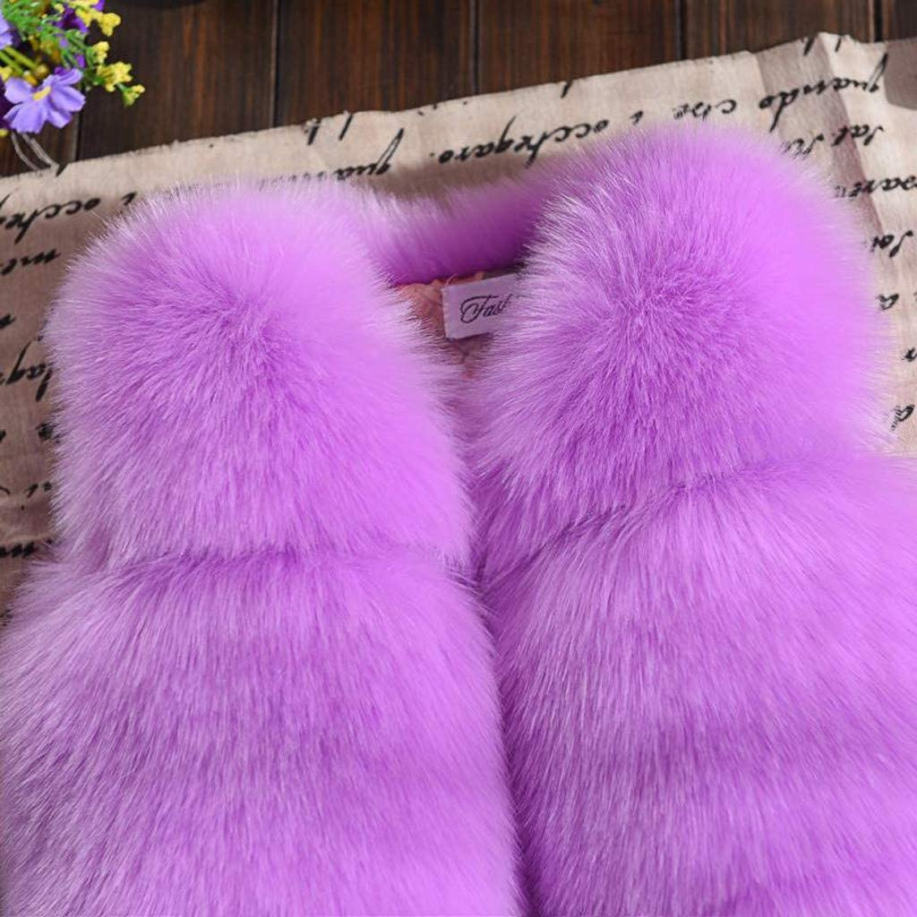 Kids Winter Warm Vest Faux Fur Waistcoat Thicken Coat Outerwear Toddler Baby Girls Tops Clothes for 1-7 Years